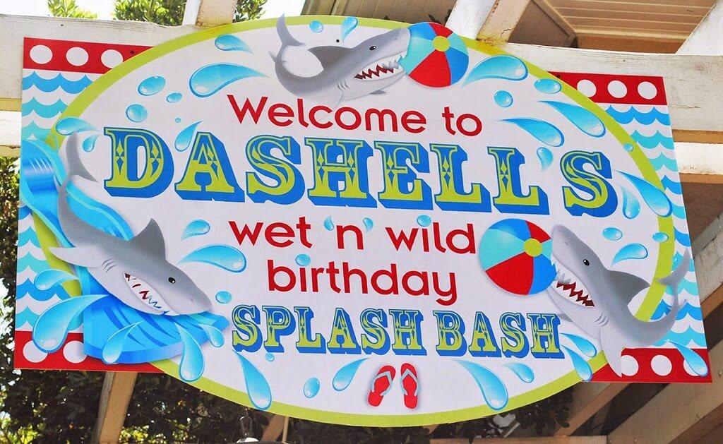 Pool Table Balls Scattered Wet N Wild Shark Pool ...