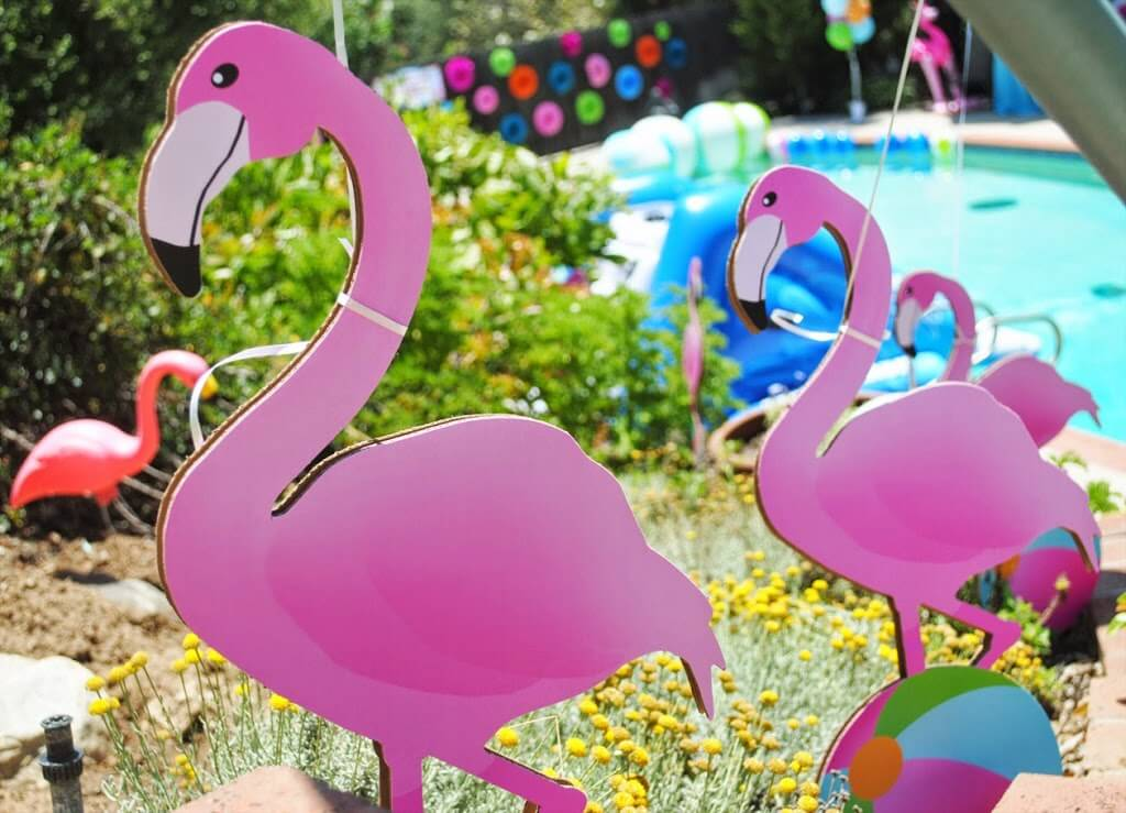 Sophisticated Whimsical Pink Flamingo Pool Party