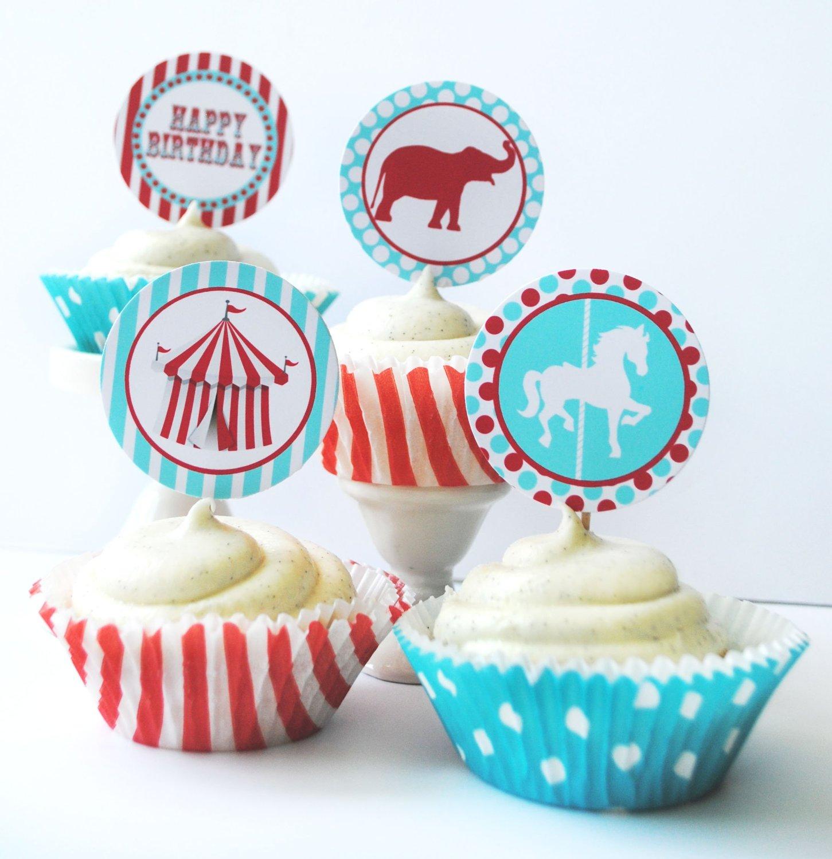 Circus Carnival Carousel Cupcake Kit