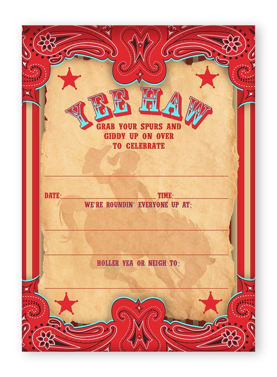 Cowgirl Party Invitations AR