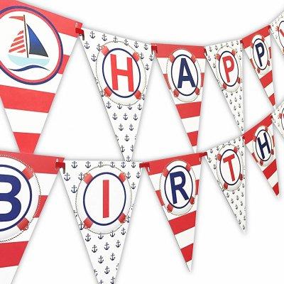 Art Party Happy Birthday Banner Pennant POPpartiesInkcom