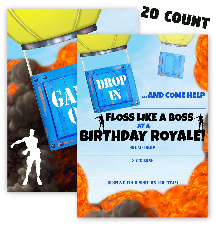 Pop Parties Gaming Invitations 20 Invitations 20 Envelopes
