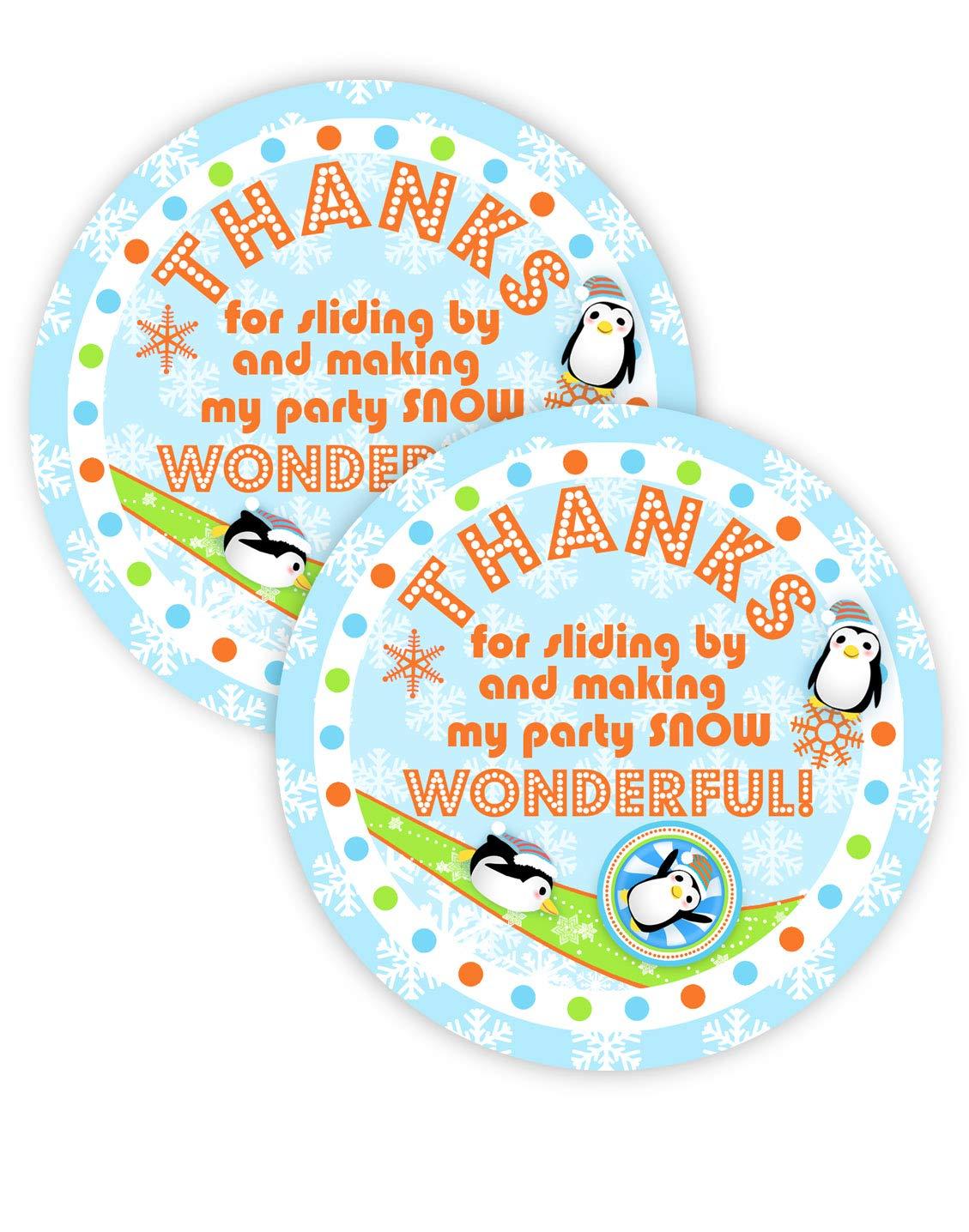 Pop Parties Penguin Orange Party Favor Stickers 40 Favor Bag