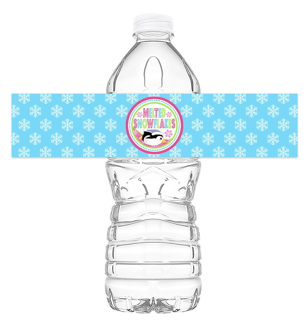 Penguin Pink Bottle Wraps 20 Penguin Water Bottle Labels