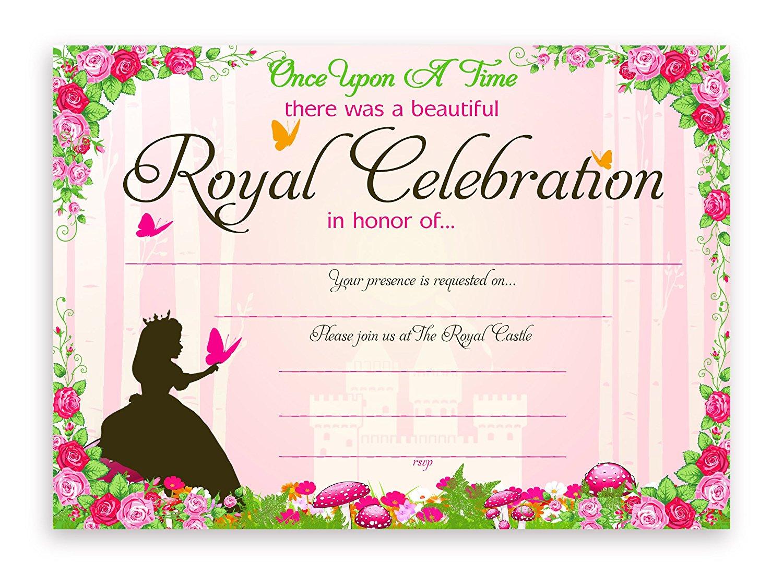 Princess Fairy Tale Party Invitations