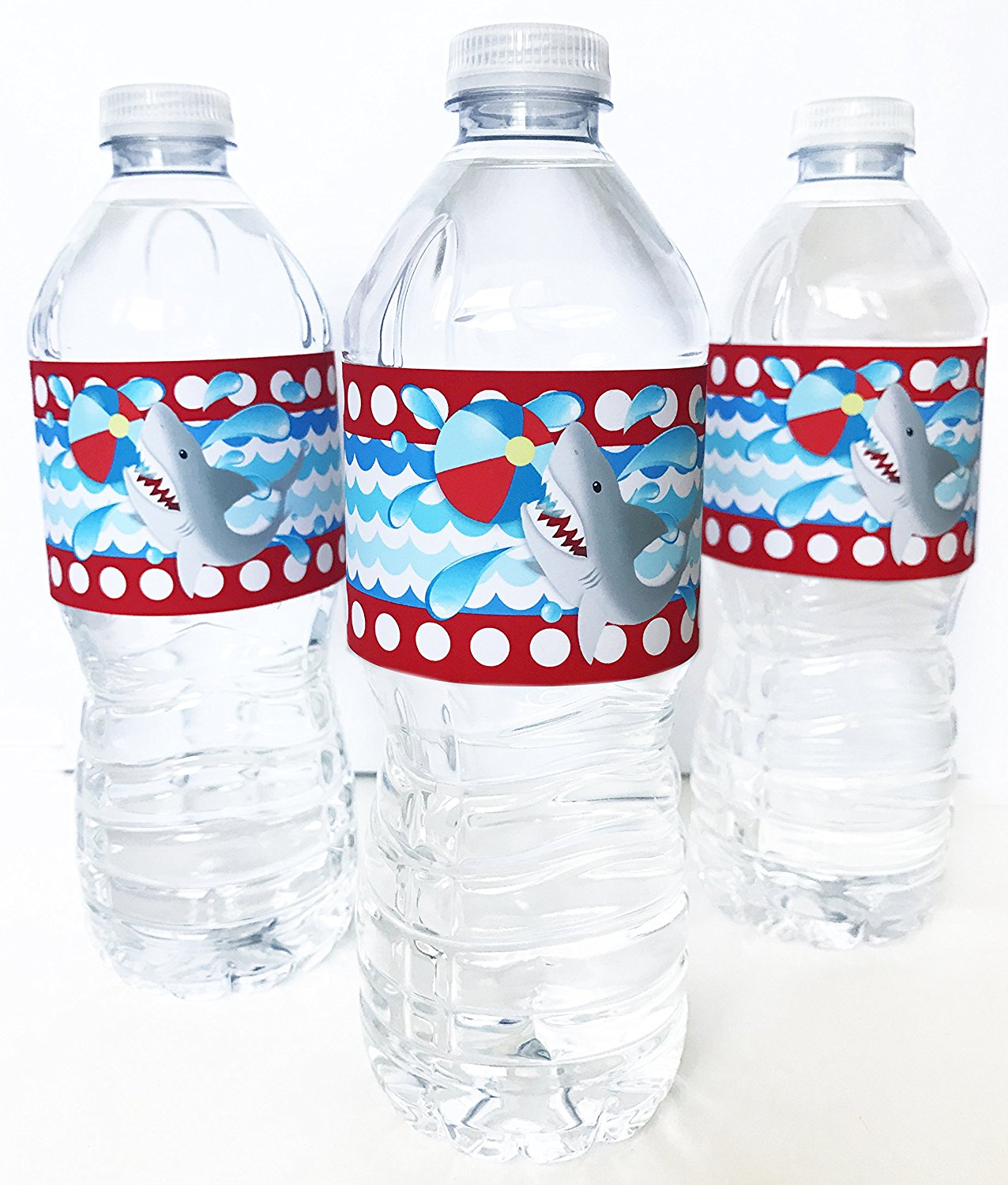 Shark Bottle Wraps 20 Under The Sea Water Bottle Labels Pool Party Decorations Made In The Usa