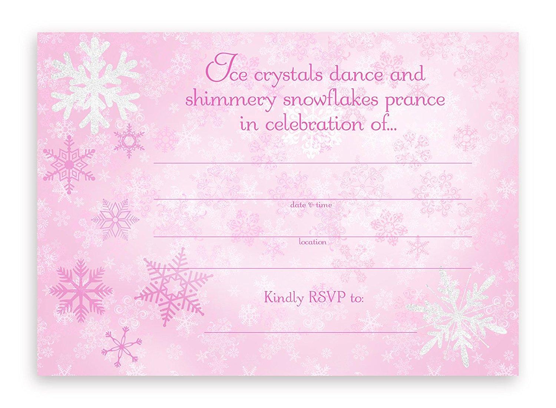Snow Princess Party Invitations 10 Invitations 10 Envelopes