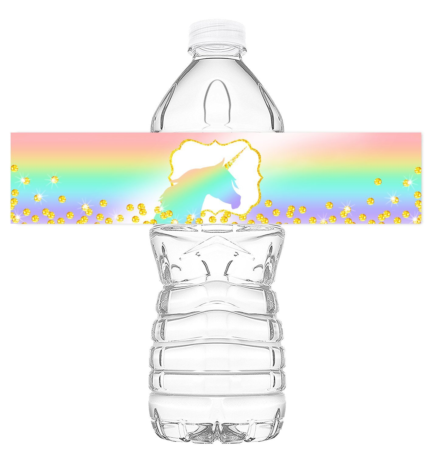 Unicorn Pastel Bottle Wraps 20 Unicorn Water Bottle Labels