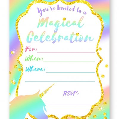 Snowy Owl Birthday Party Invitations 10 Invitations 10 Envelopes
